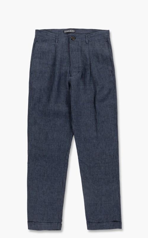 Hansen Mads Loose Fit Trousers Blue Delavé