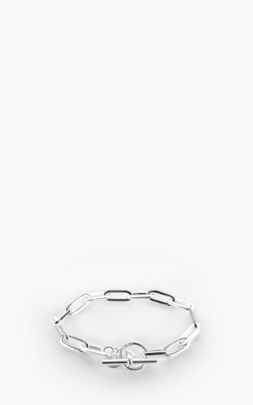 Argentidea 7mm Solid Rectangular Link Chain Bracelet 925 Sterling Silver