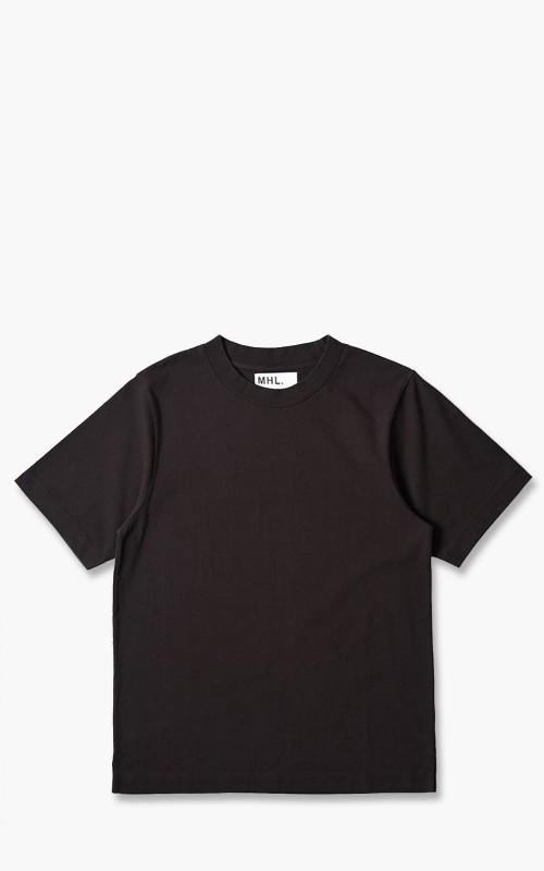 Margaret Howell MHL. S/S Wide Crew Neck Matte Jersey/GZZ Mahogany