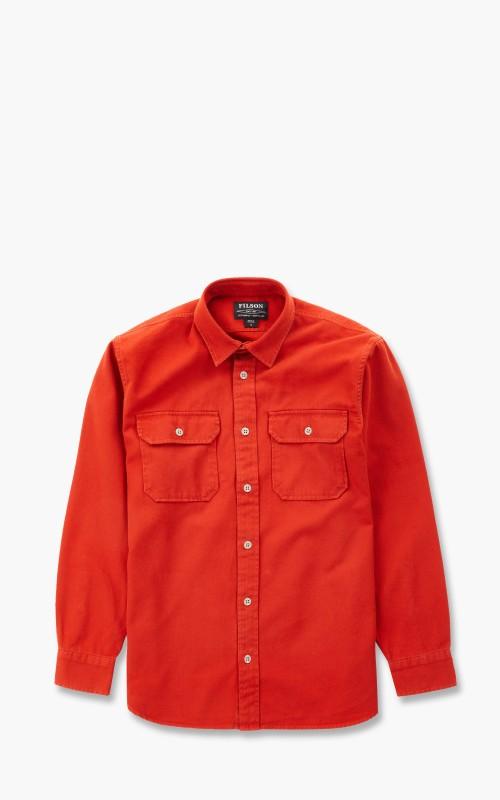 Filson Chino Twill Shirt Iron Rust