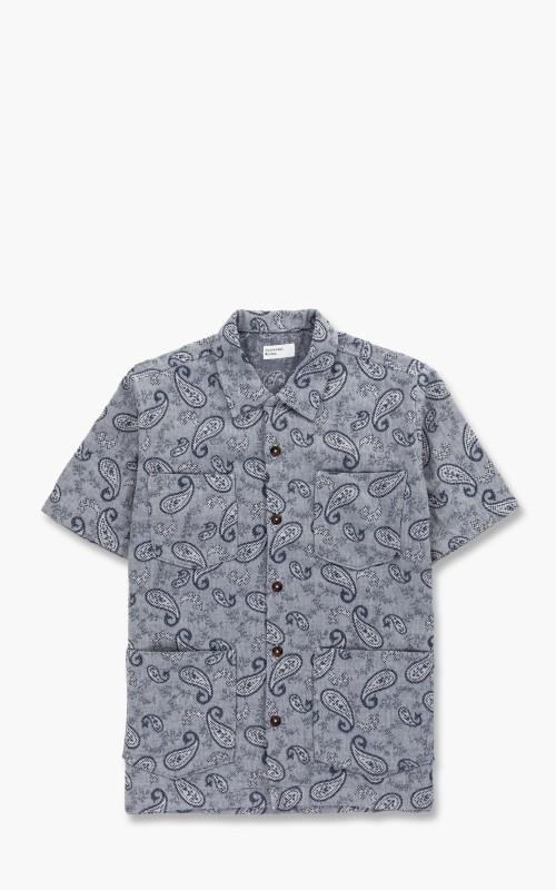 Universal Works Summer Overshirt Paisley Weave Indigo