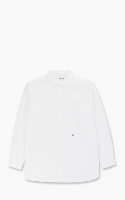 Nanamica Regular Collar Wind Shirt Off White