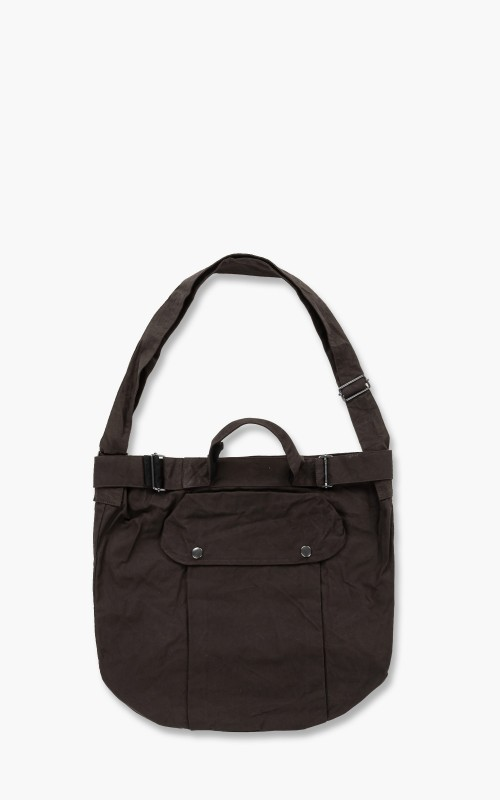Margaret Howell MHL. Army Surplus Bag Washed Waxed Cotton Carob