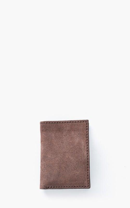 Nudie Jeans Hagdahl Wallet Suede Leather Brown