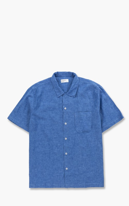 Universal Works Road Shirt Linen Blue