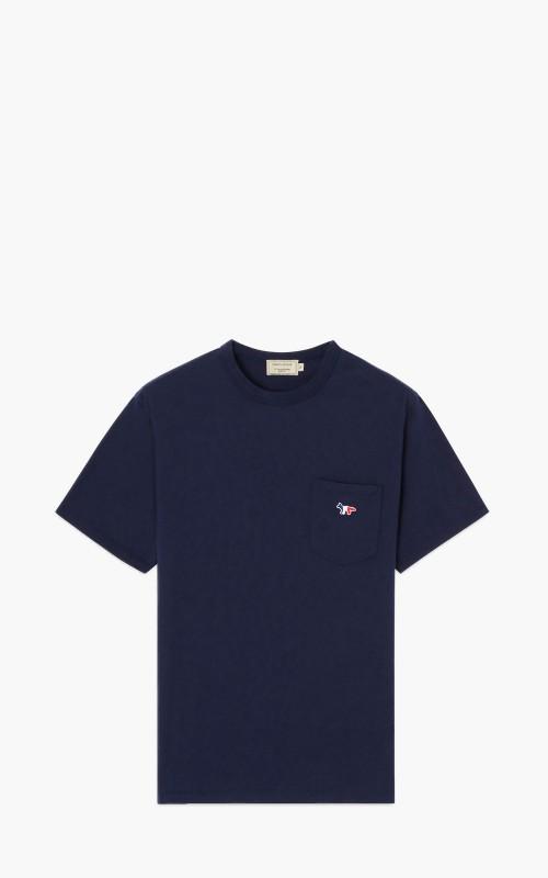 Maison Kitsuné Tricolor Fox Patch Pocket T-Shirt Navy