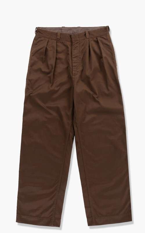 Nanamica Double Pleat Wide Chino Pants Brown