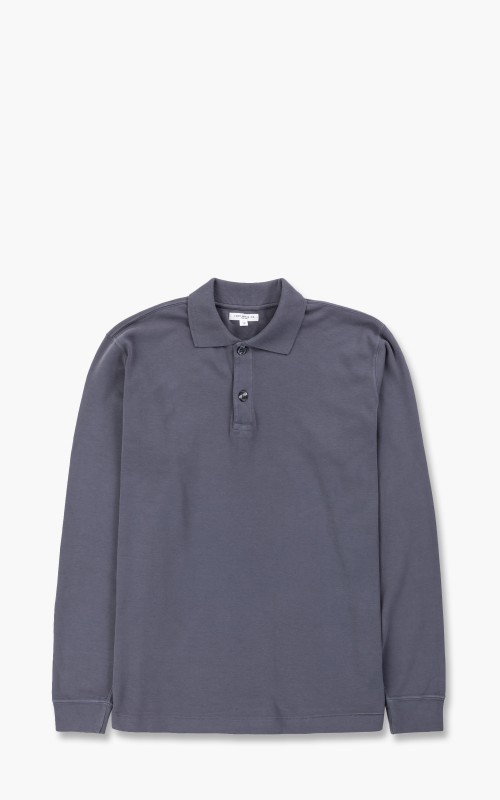 Lady White Co. Two Button Polo Longsleeve Night Grey