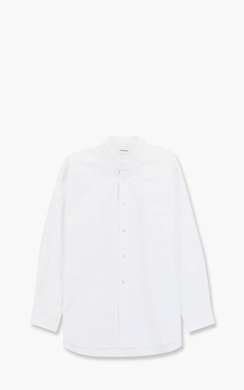 Markaware Polo Collar Tent Shirt Organic Cotton Oxford White