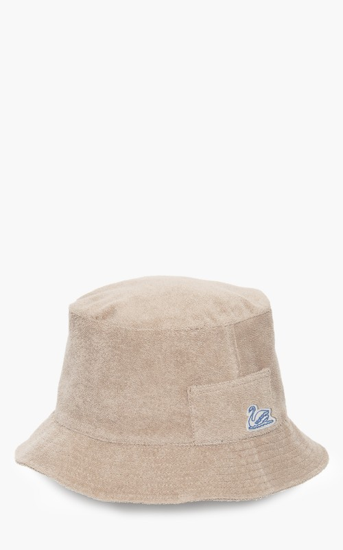 Merz b. Schwanen French Terry Bucket Hat Feather Grey