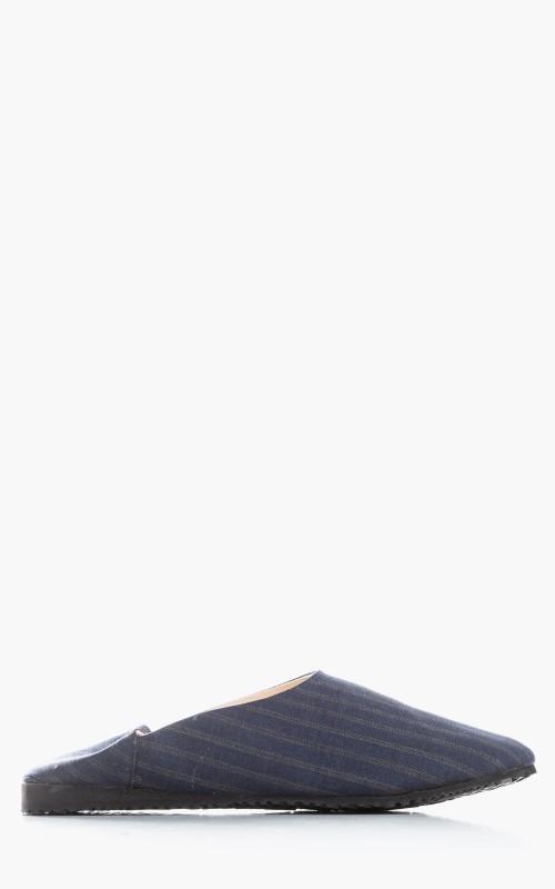 Markaware Super 120's Wool Tropical Convenience Shoe Indigo Stripe