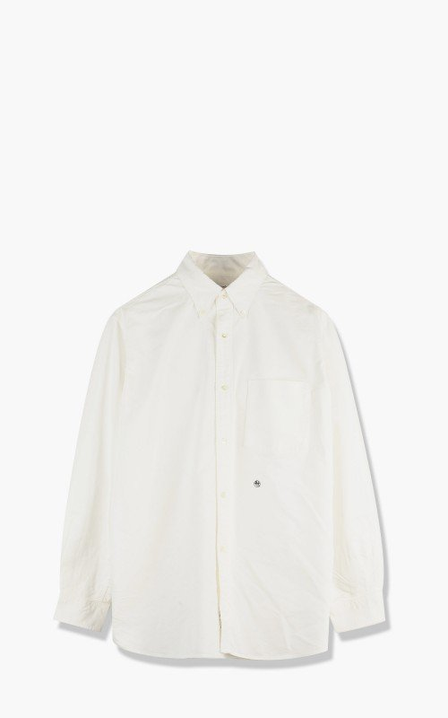Nanamica Button Down Wind Shirt White