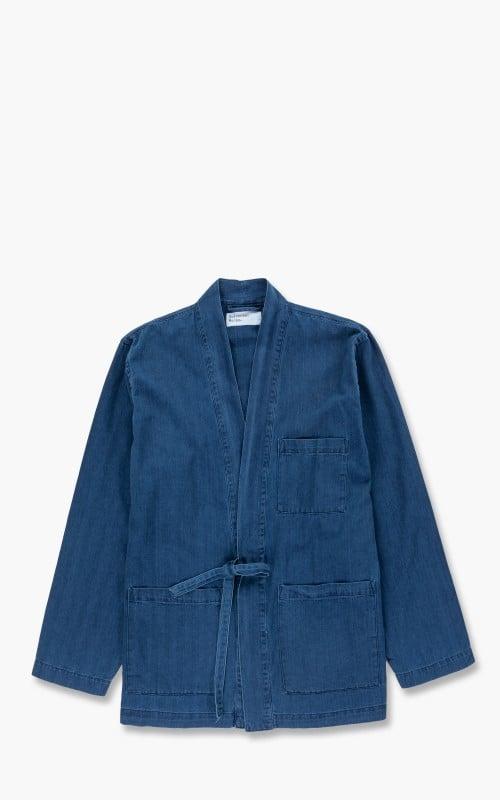 Universal Works Kyoto Herringbone Work Jacket Denim Washed Indigo