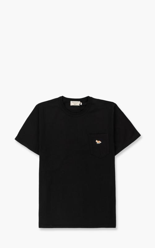 Maison Kitsuné Profile Fox Patch Pocket T-Shirt Black