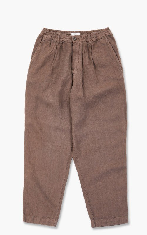 Universal Works Pleated Track Pant Linen Light Brown