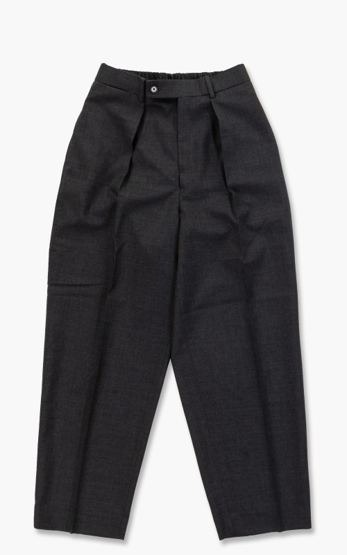 Markaware Organic Wool Tropical Classic Fit Trousers Charcoal