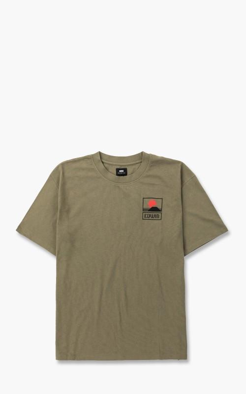 Edwin Sunset On Mt Fuji T-Shirt Olive
