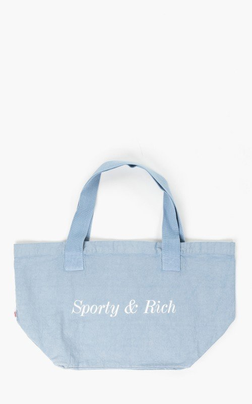 Sporty & Rich Classic Logo Tote Bag Baby Blue