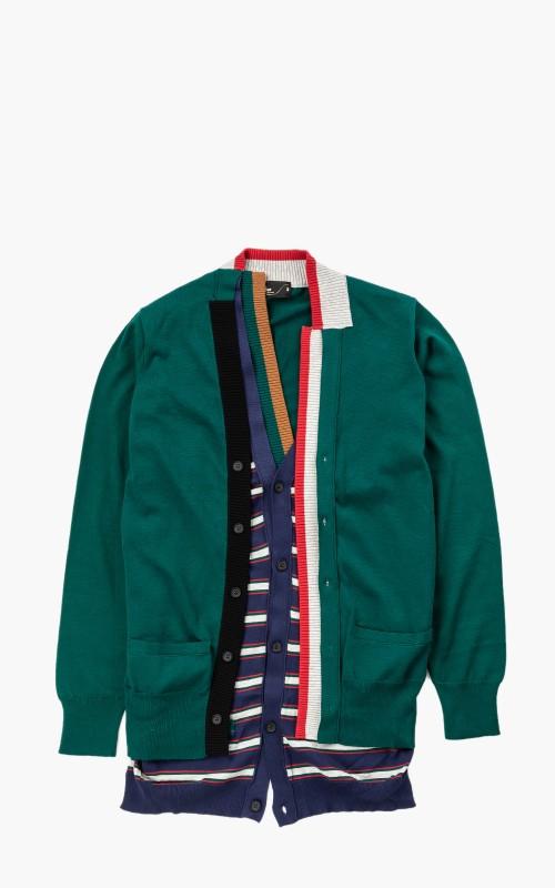 Kolor 20SCM-N04302A Knit Cardigan A-Green