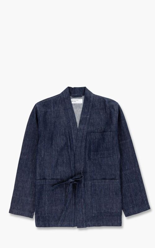 Universal Works Tie Front Jacket Denim Indigo