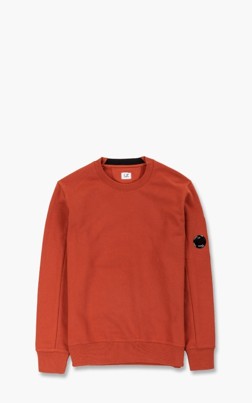 C.P. Company Diagonal Raised Fleece Sweatshirt Burnt Ochre