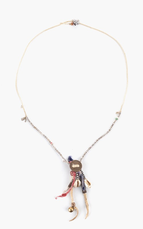 North Works S-001 Amulet Necklace Old Beads Shell