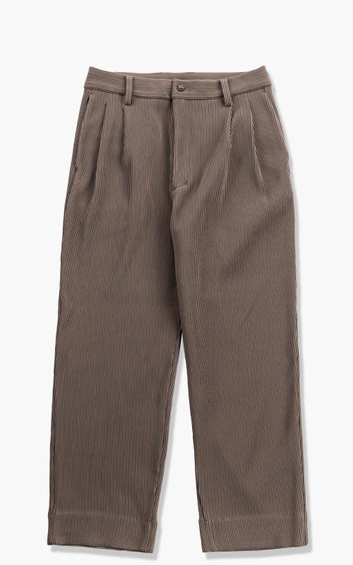 stein Gradation Pleats Two Tuck Trousers Dark Greige