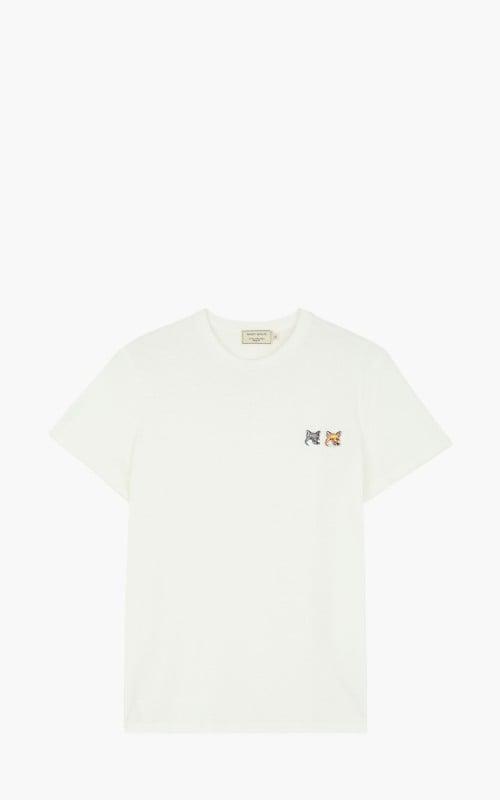 Maison Kitsuné T-Shirt Double Fox Head Patch Latte
