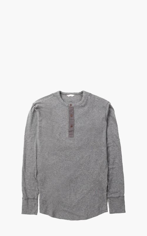 Pike Brothers 1927 Henley Shirt Long Sleeve Grey Melange