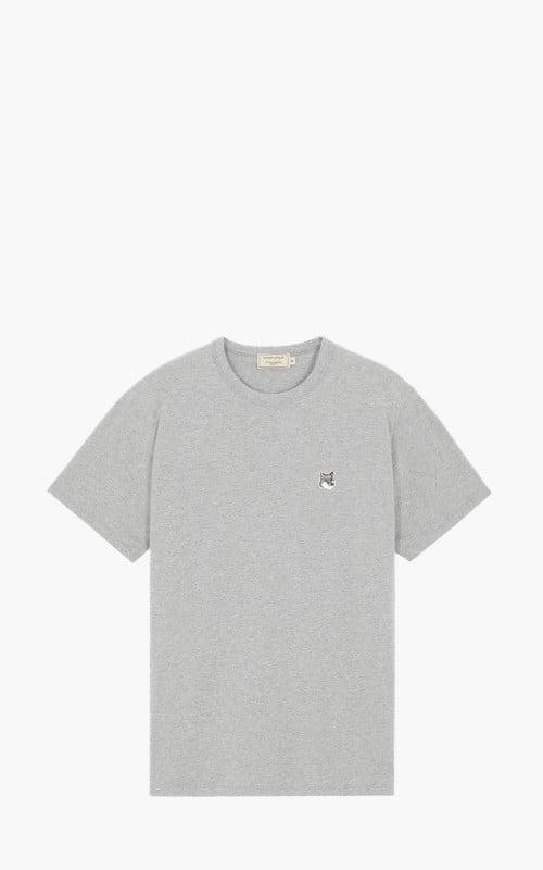 Maison Kitsuné Grey Fox Head Patch T-Shirt Grey