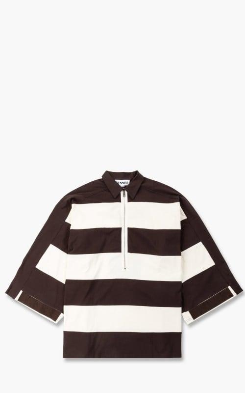 Sunnei V-Neck Over Shirt Off White Brown