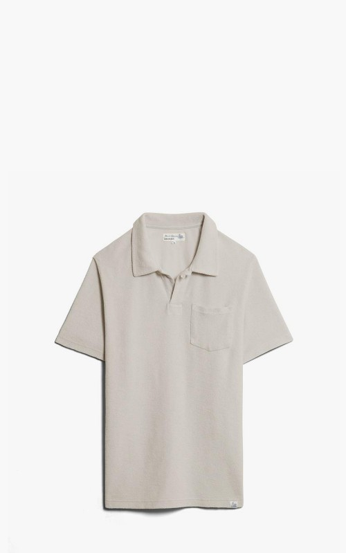 Merz b. Schwanen FTPLP01 Polo Shirt French Terry Feather Grey