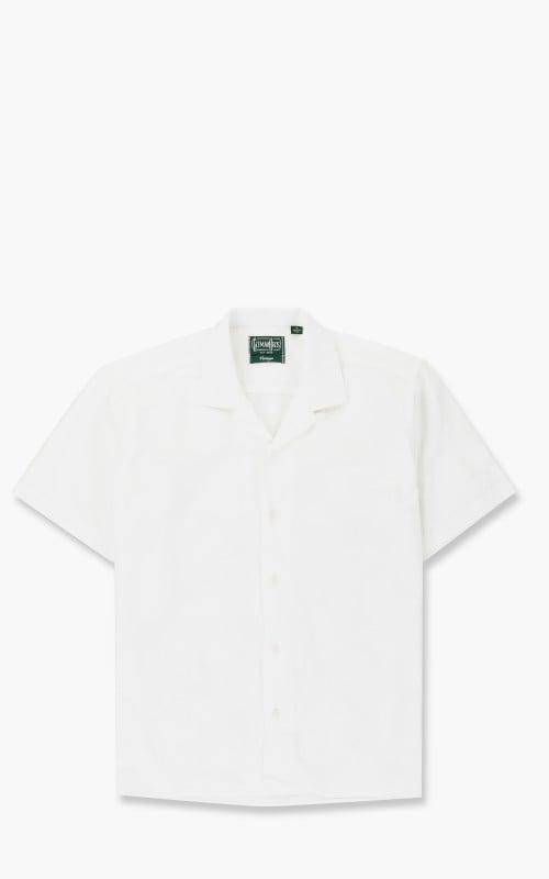 Gitman Vintage Large Dobby Dot Shirt White