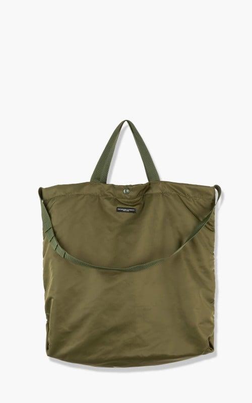 Engineered Garments Carry All Tote Flight Satin Nylon Olive
