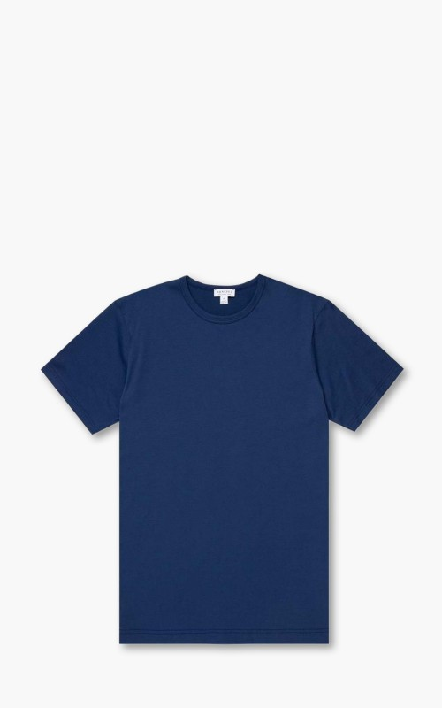 Sunspel Short Sleeve Classic Crewneck T-Shirt Midnight
