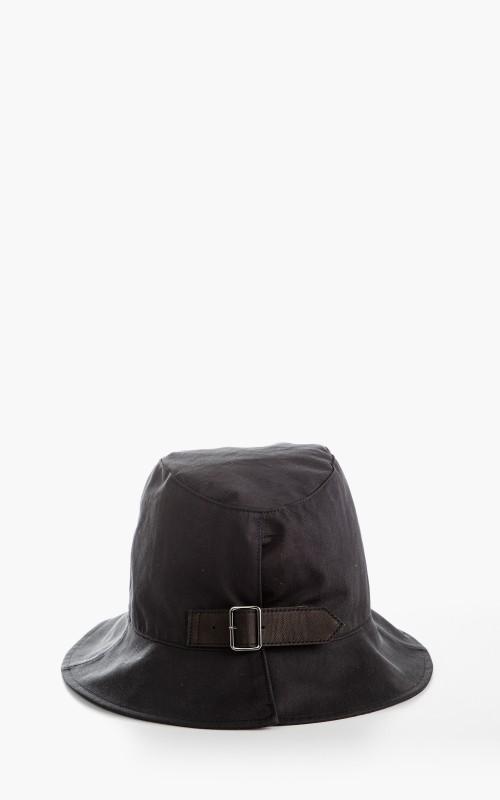 Kijima Takayuki No. 211105 Hat With Leather Belt Black