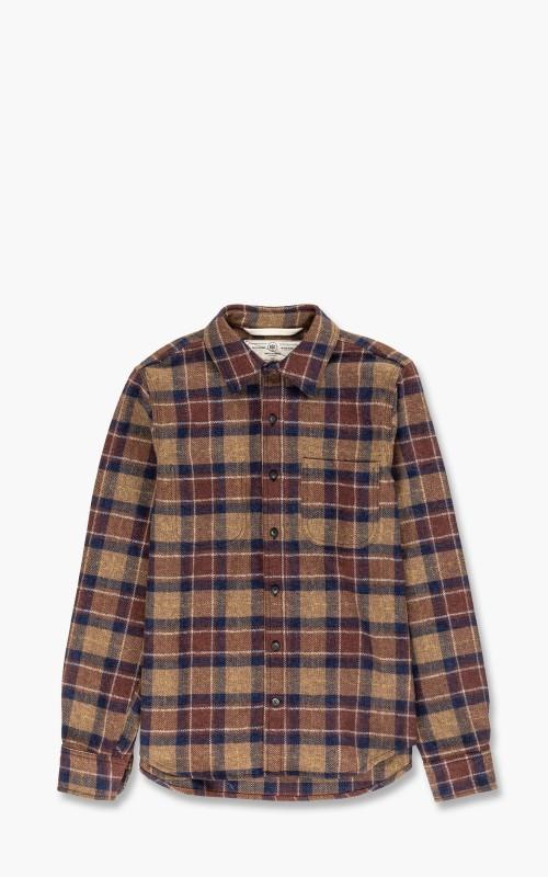 Rogue Territory Jumper Shirt Ochre Herringbone Plaid