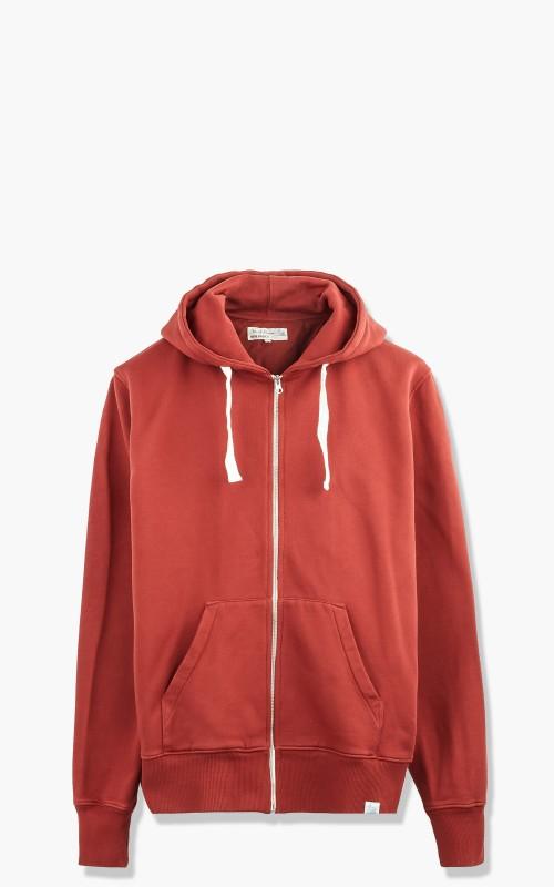 Merz b. Schwanen HDJKT02 Hooded Zip Jacket Brick Red