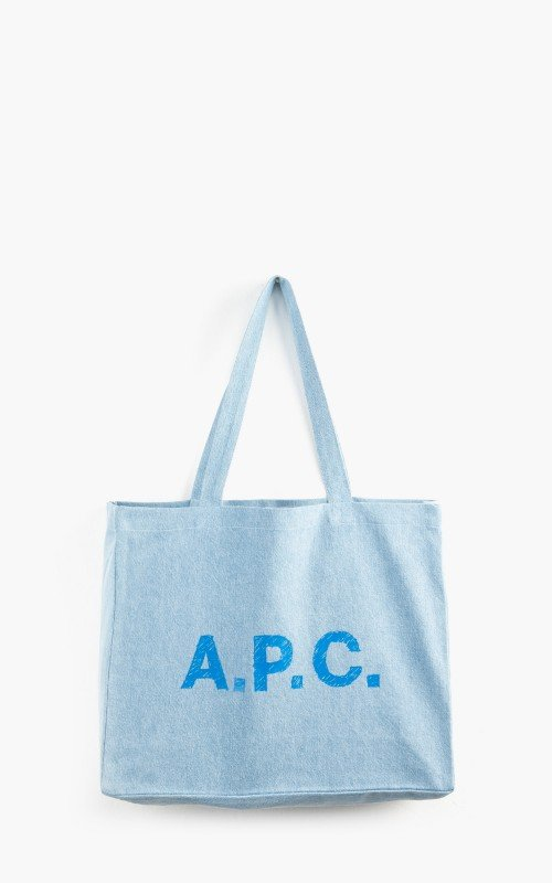 A.P.C. Diane Shopping Bag Stone Marbled Denim Light Blue
