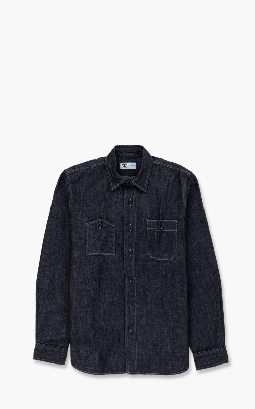 Tellason Dockworker Shirt Dry Indigo
