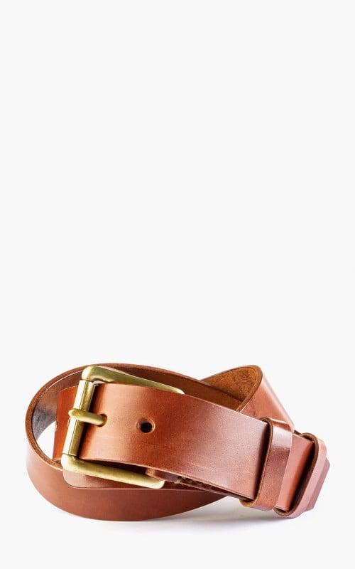 Timeless Leather Craftsmanship Military Belt Cognac