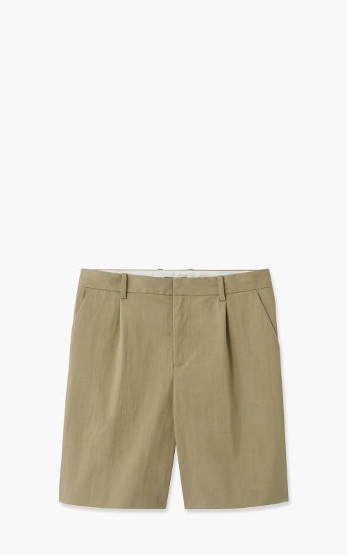 A.P.C. Terry Gabardine Shorts Beige