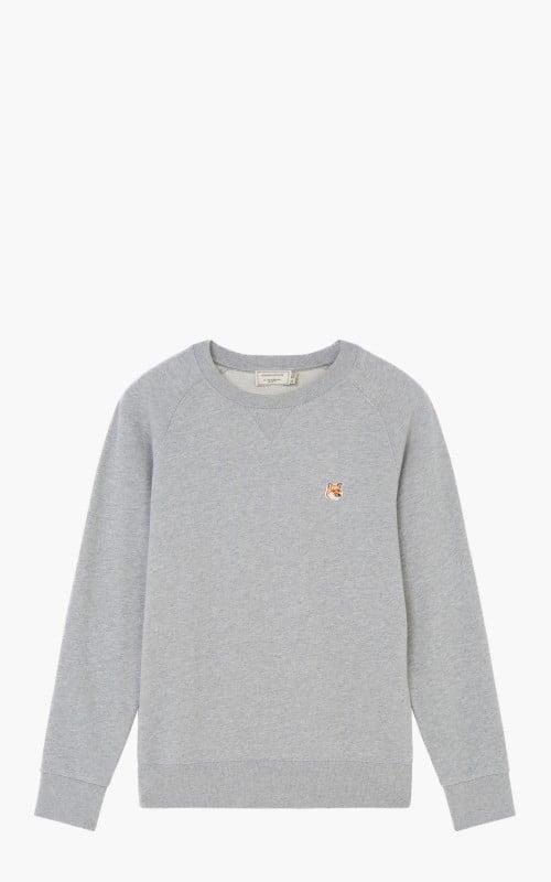 Maison Kitsuné Sweatshirt Fox Head Patch Grey Melange