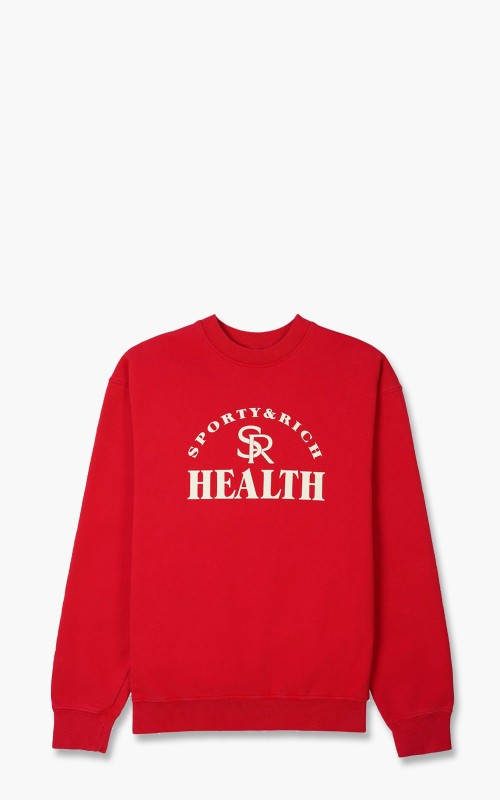 Sporty & Rich Ball Game Crewneck Sports Red