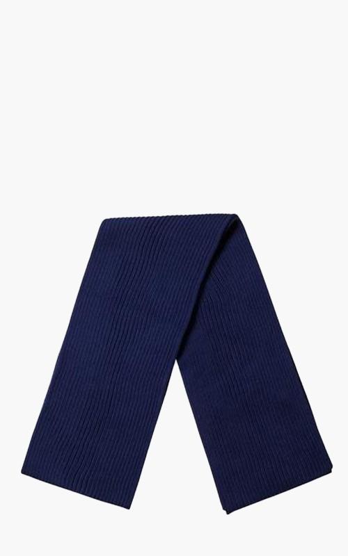 Andersen-Andersen Wide Scarf Royal Blue