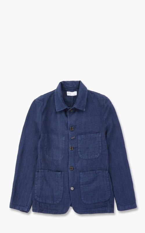 Universal Works Bakers Jacket Linen Indigo