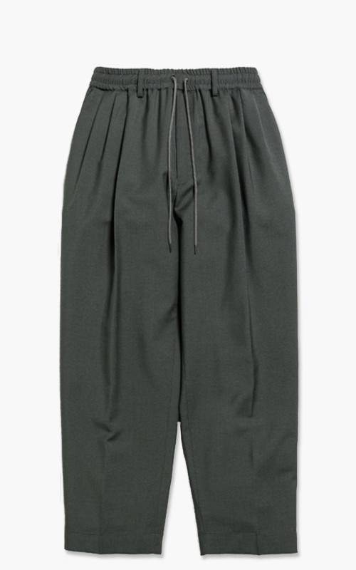 Markaware 'Marka' Wool Mohair Tropical 3Tuck Tapered Fit Easy Trousers Green