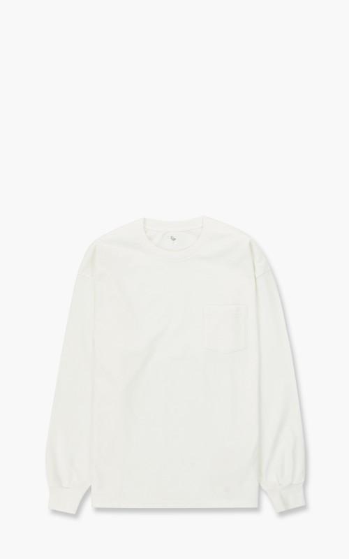 Kaptain Sunshine West Coast Long Sleeved Tee White/Sand Line
