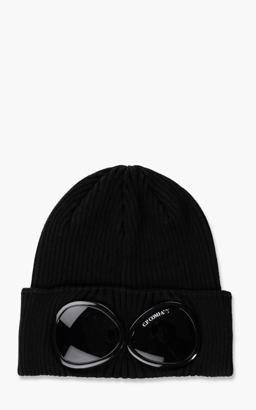 C.P. Company Goggle Knit Cap Black