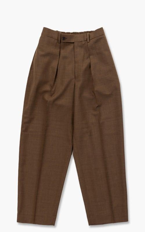 Markaware Organic Wool Tropical Classic Fit Trousers Khaki